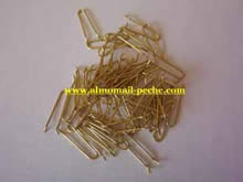 LOT DE 100 ATTACHES POUR MOULE GRAPPINS