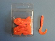 LOT DE 10 TWISTS ORANGE   DE 5CM