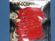 LOT DE 10 MINI OCTOPUS ROUGE DE  4,5CM